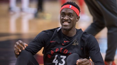 NBA-Raptors-Siakam-smiles-during-practice