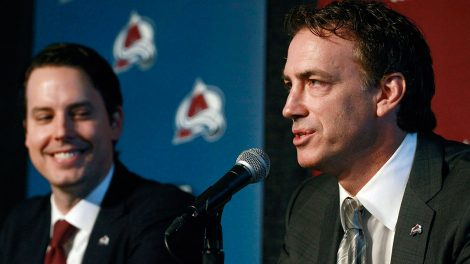 NHL-Avalanche-Sakic-speaks-at-press-conference