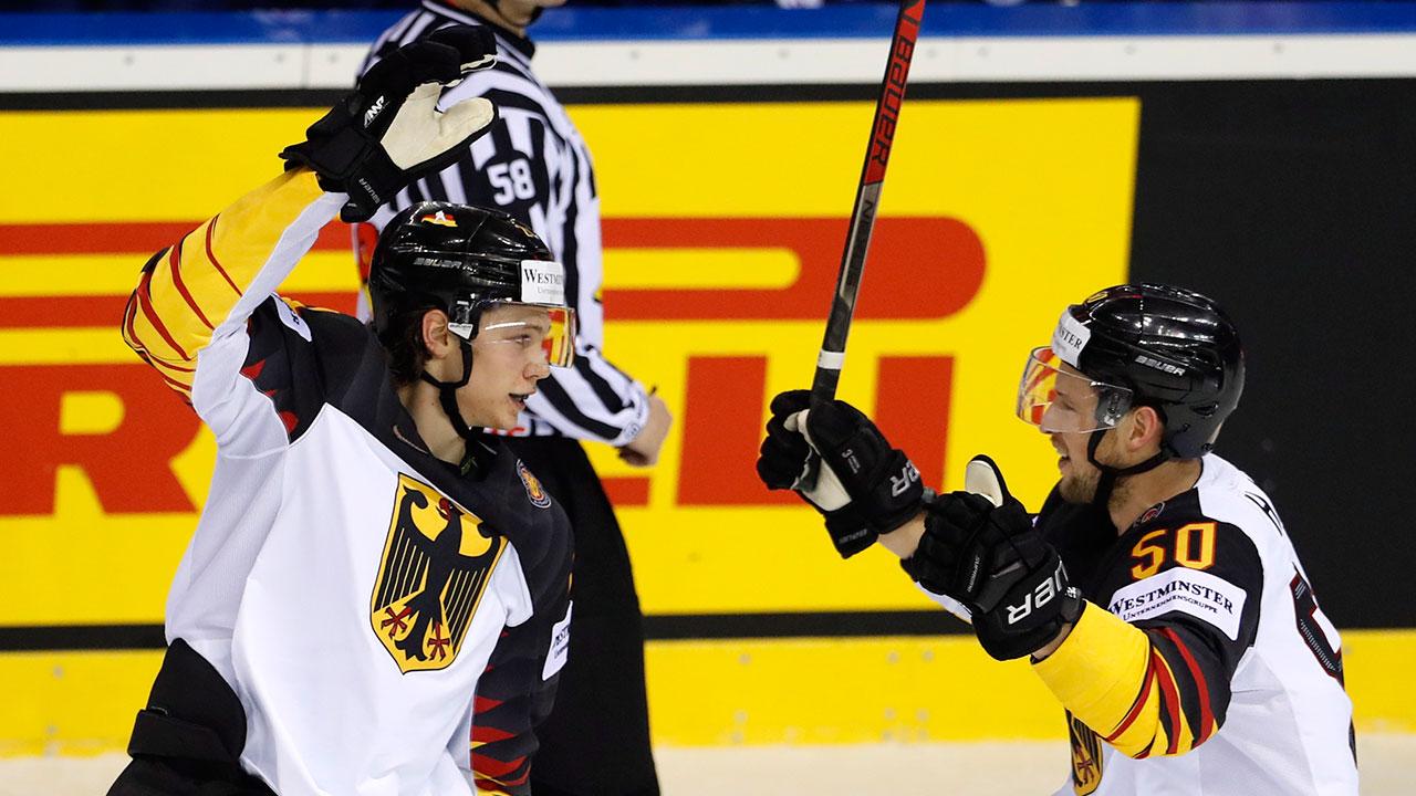 NHL-Germany-Seider-celebrates-goal