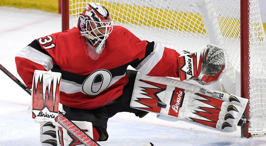 NHL-Senators-Nilsson-makes-save-against-Blues