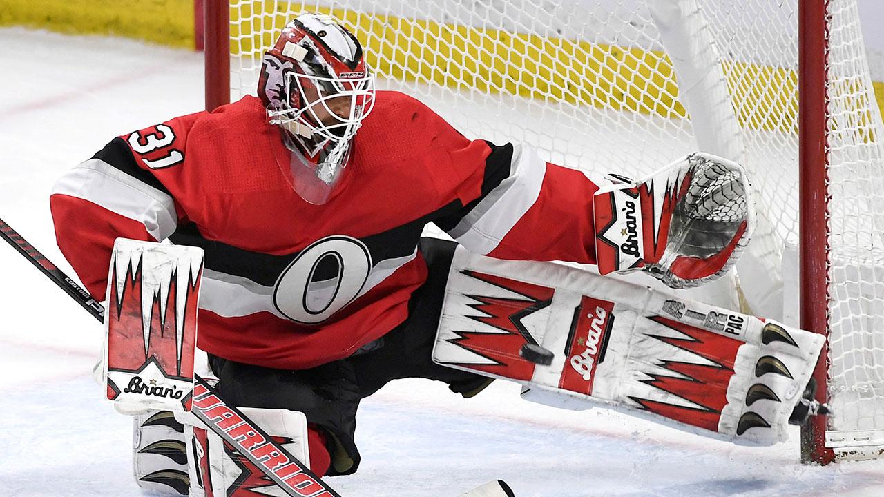 NHL-Senators-Nilsson-makes-save-against-Blues