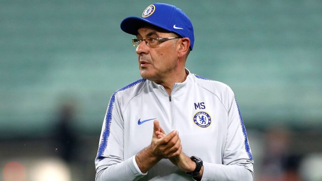 Soccer-Premier-League-Chelsea-Sarri-runs-training-session