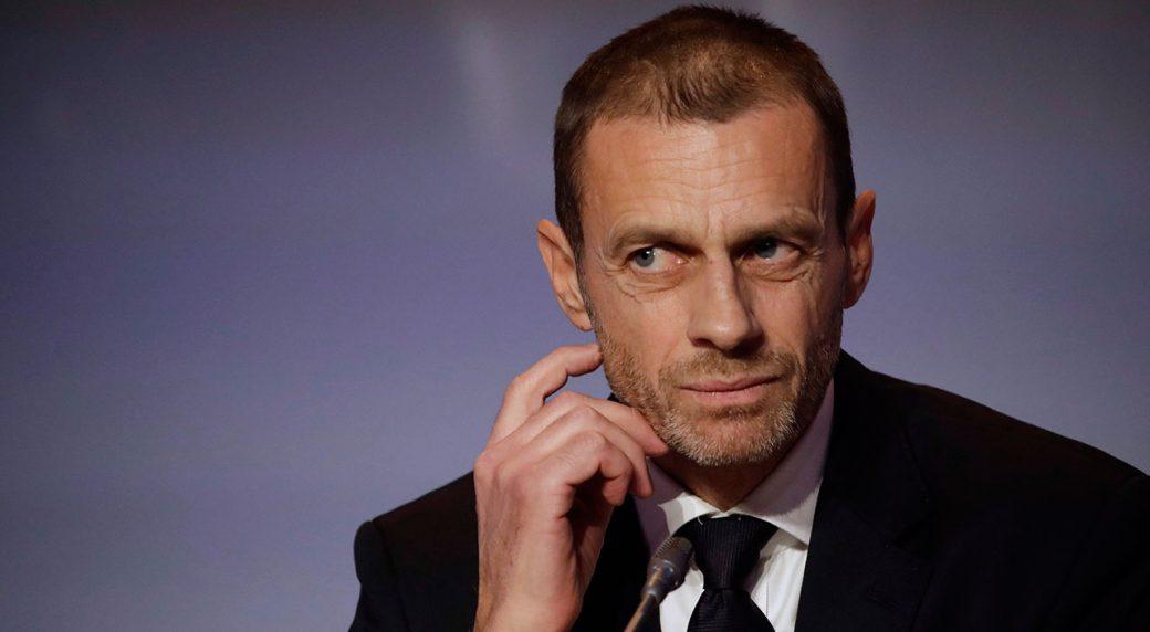 Soccer-UEFA-president-speaks-during-press-conference