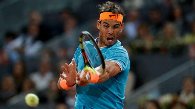 Tennis-ATP-Nadal-hits-shot-at-Madrid-Open