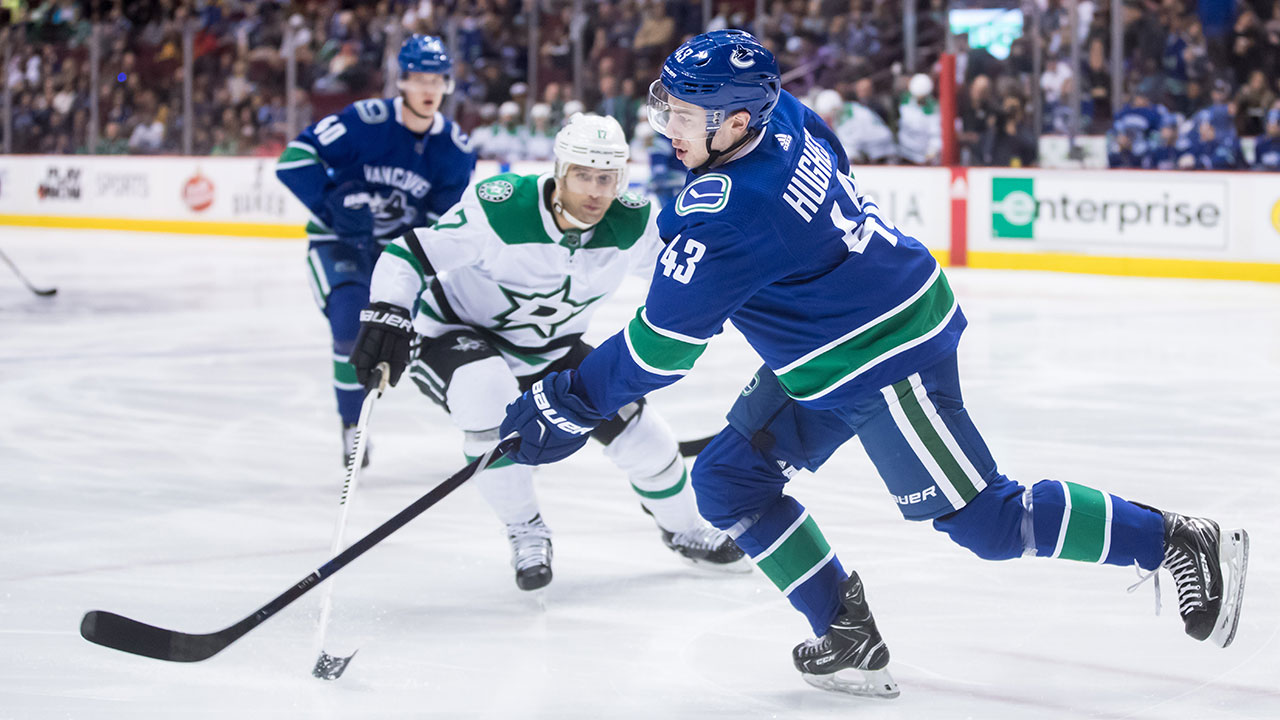 super popular ede5f 2ea92 Canucks' Quinn Hughes prepared to handle increasing ...