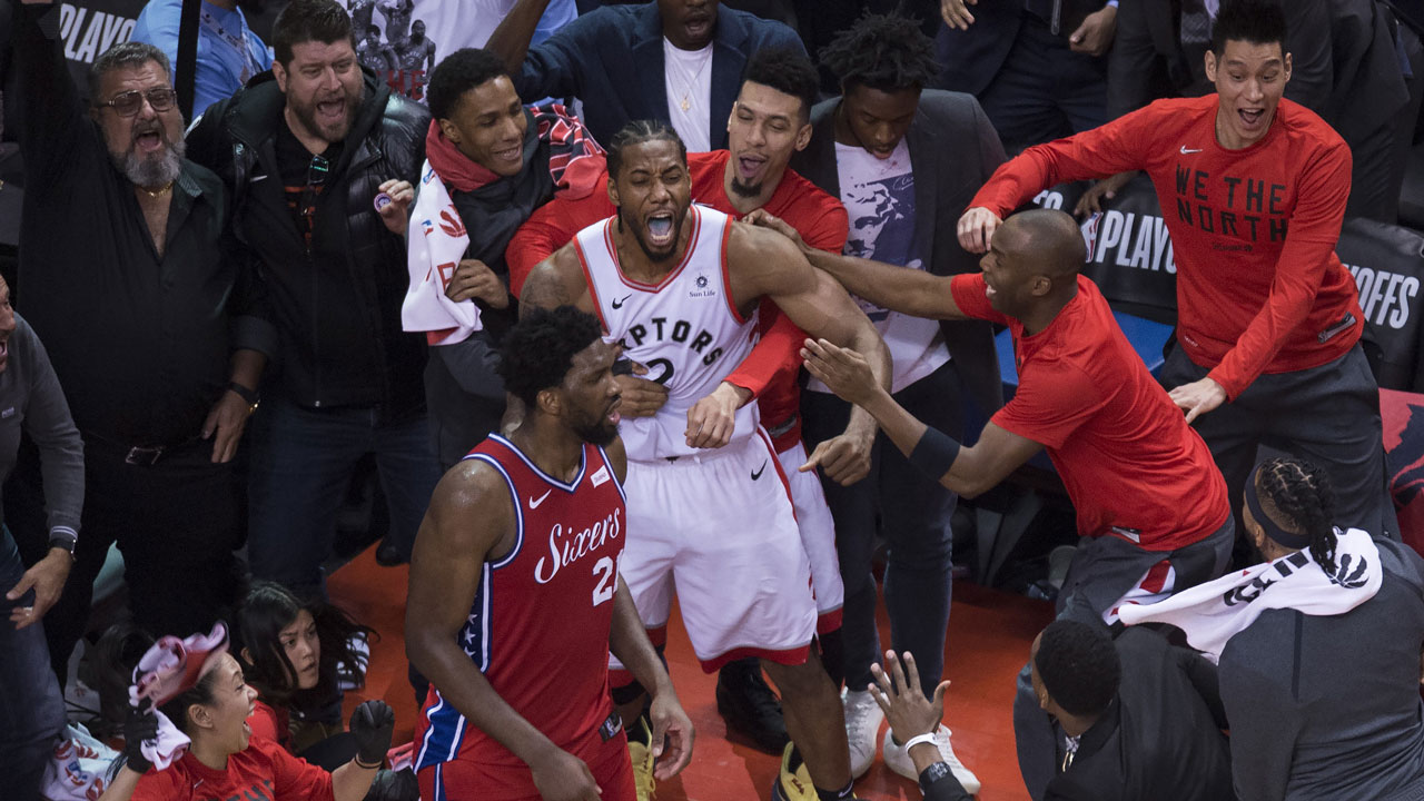 Kawhi Leonard hits buzzer beater as Raptors reach East