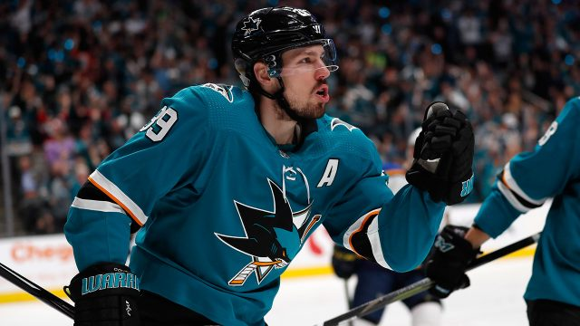 sharks-logan-couture-celebrates-goal-against-blues