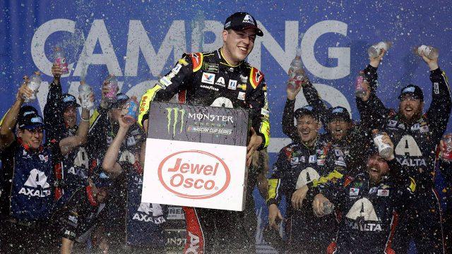 Auto-racing-Bowman-celebrates