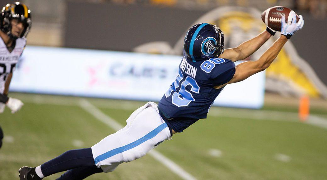 Watson's touchdown catch earns Argos exhibition win over Tiger-Cats -  Sportsnet.ca