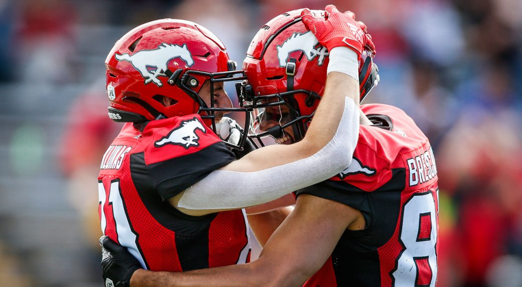 CFL-Stampeders-celebrate-after-touchdown