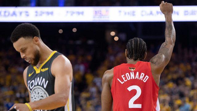 NBA-Raptors-Leonard-raises-fist-after-winning-NBA-title
