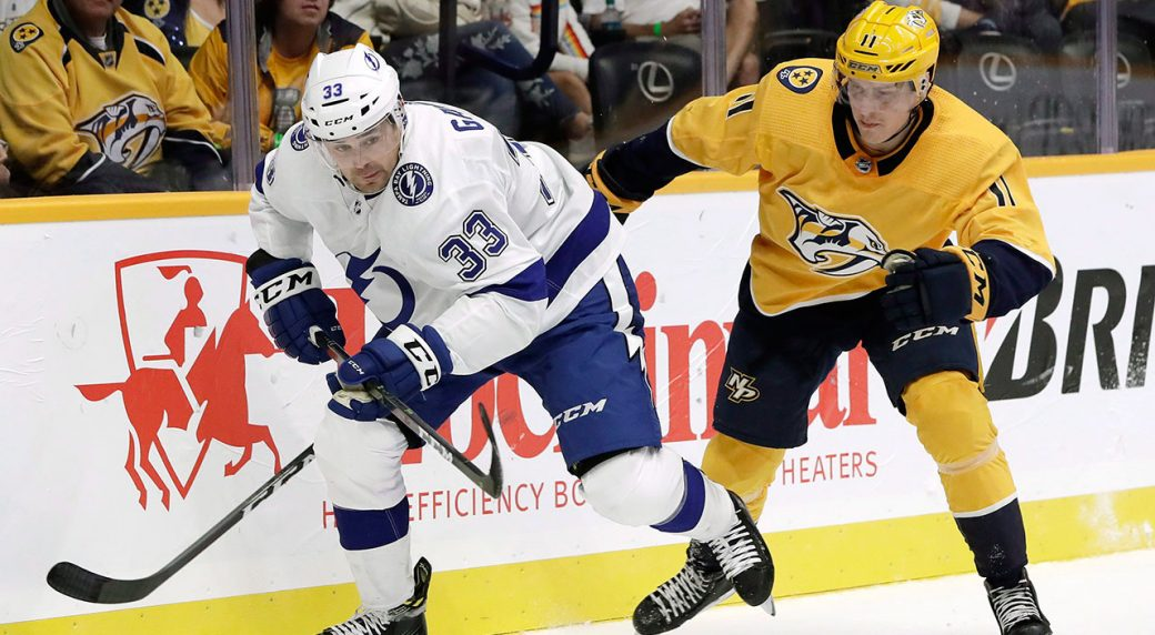 NHL-Lightning-Gaunce-skates-against-Predators
