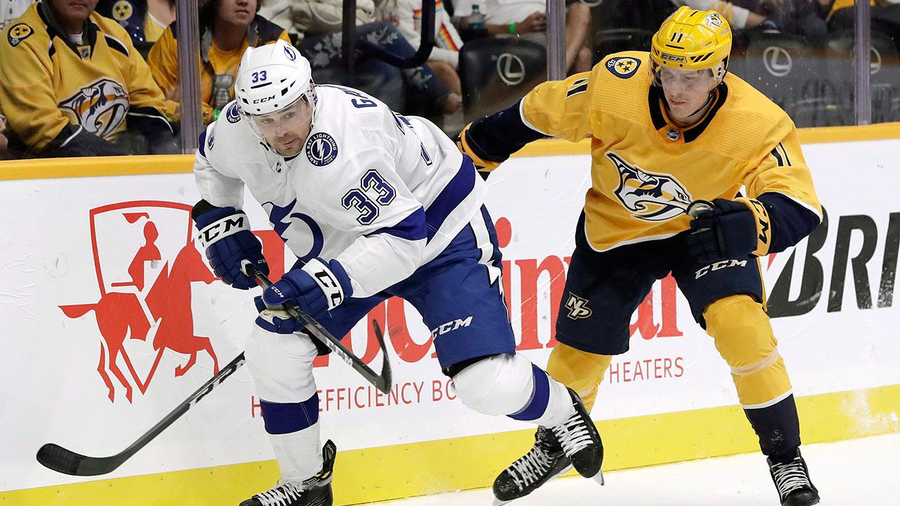 NHL-Lightning-Gaunce-skates-against-Predators