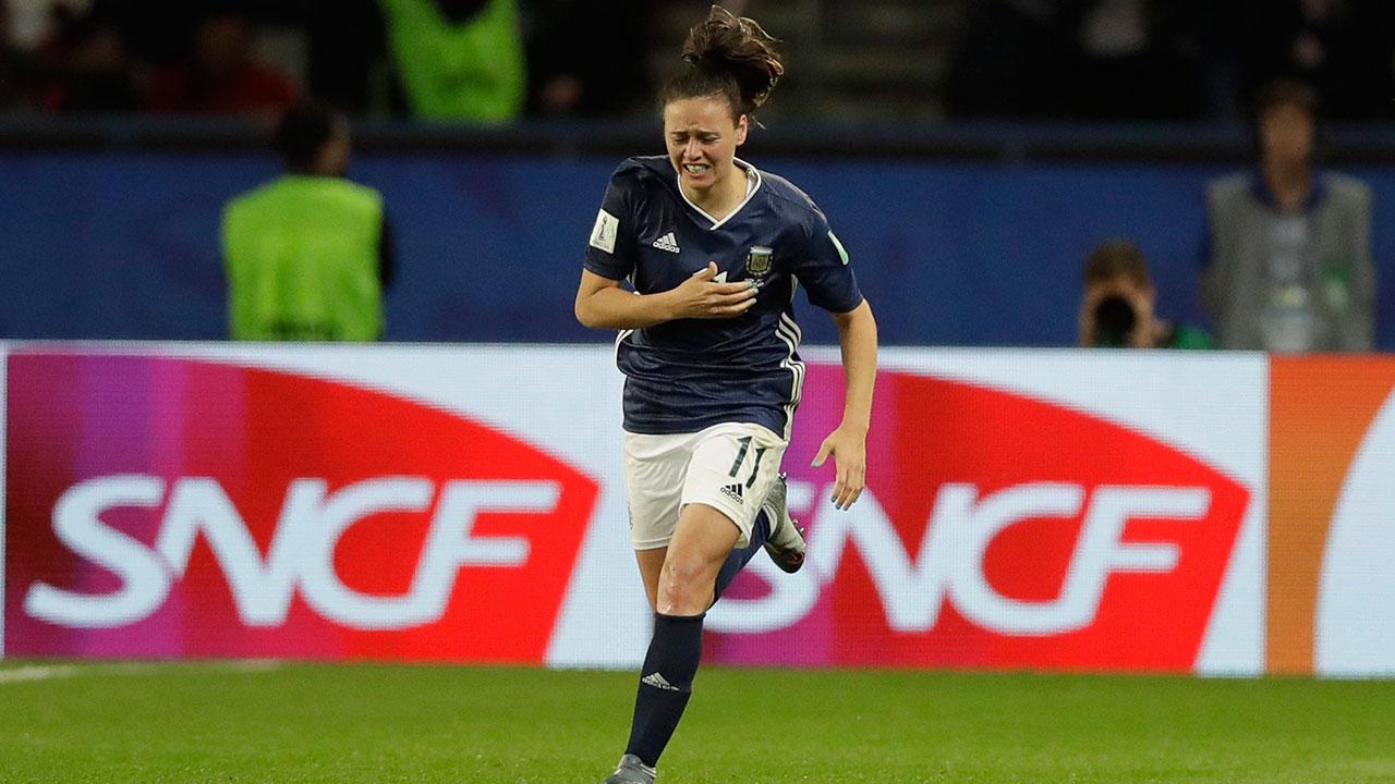 Soccer-Argentina-Bonsegundo-celebrates-after-goal-against-Scotland