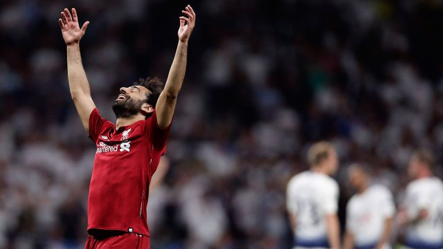 Soccer-Liverpool-Salah-celebrates-champions-league-win