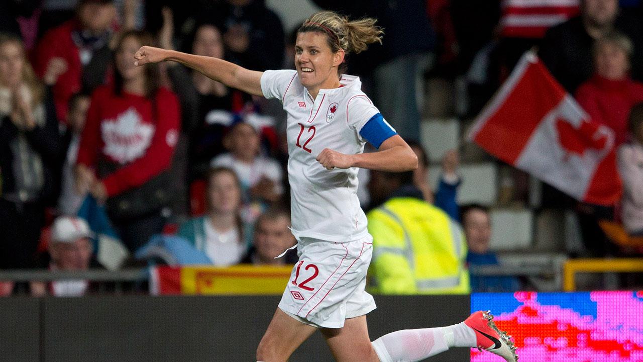 Soccer-Sinclair-celebrates-goal