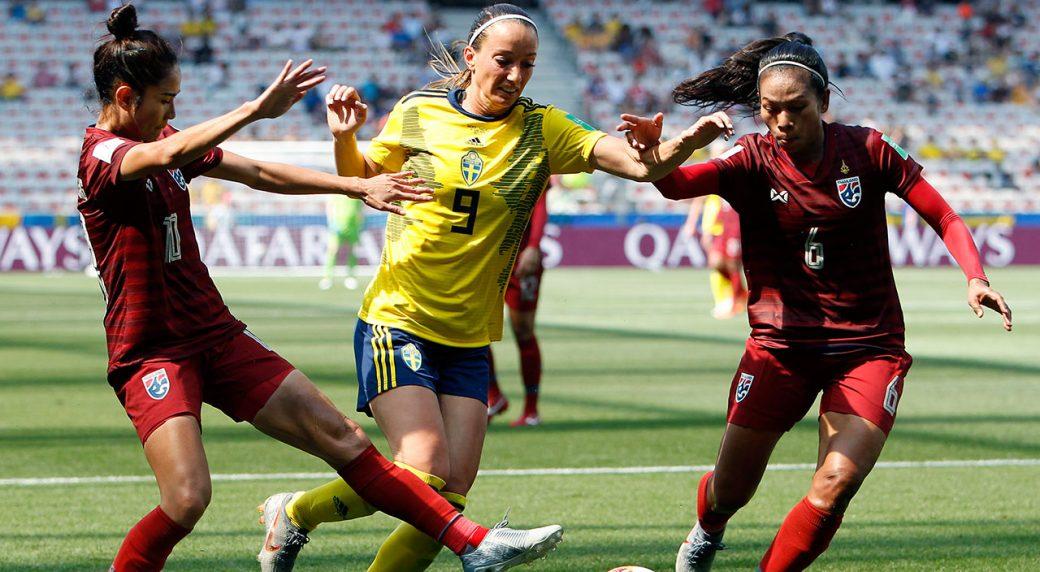 Soccer-Women's-World-Cup-Thailand-plays-Sweden