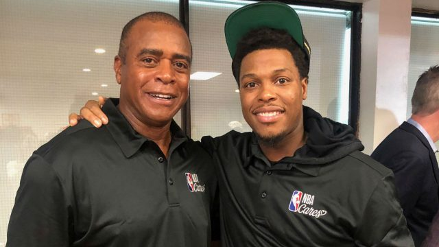 Ahmad-Rashad-and-Kyle-LOwry-attend-an-NBA-Cares-Event-in-Toronto-during-the-2019-NBA-Finals.