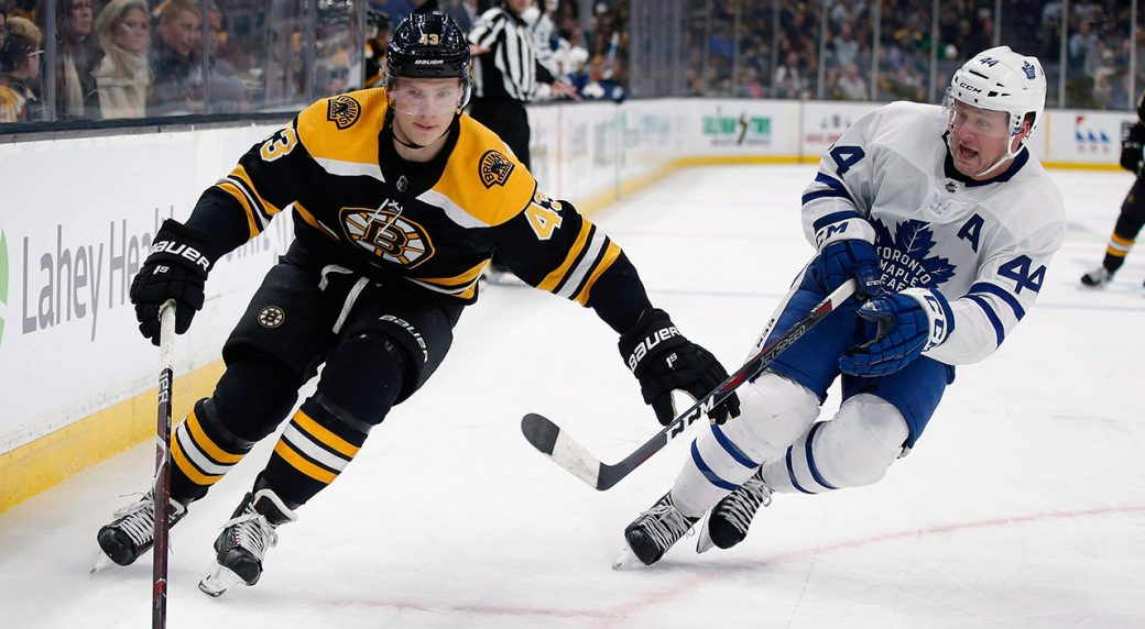 on sale a50f3 84999 Bruins re-sign forward Danton Heinen to two-year contract ...