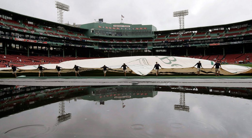 Blue Jays, Red Sox game officially in rain delay - Sportsnet ca