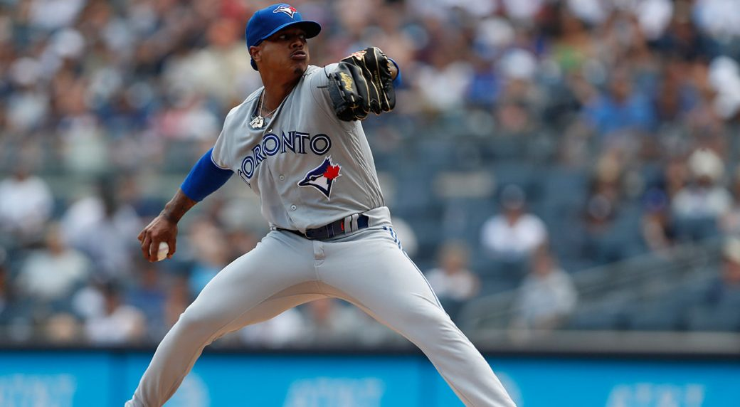 MLB-Blue-Jays-Stroman-pitches