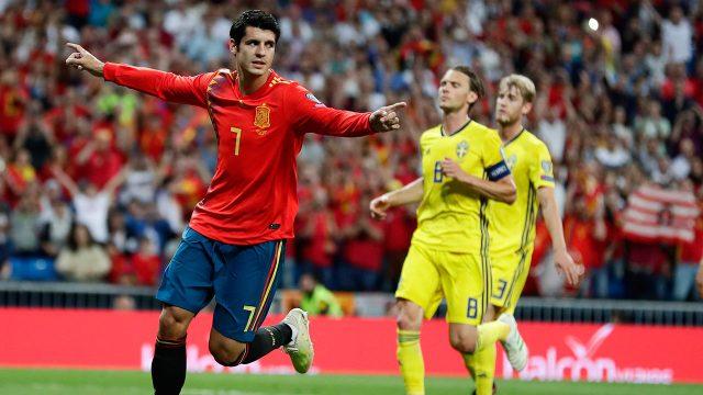 Soccer-Morata-celebrates-after-goal