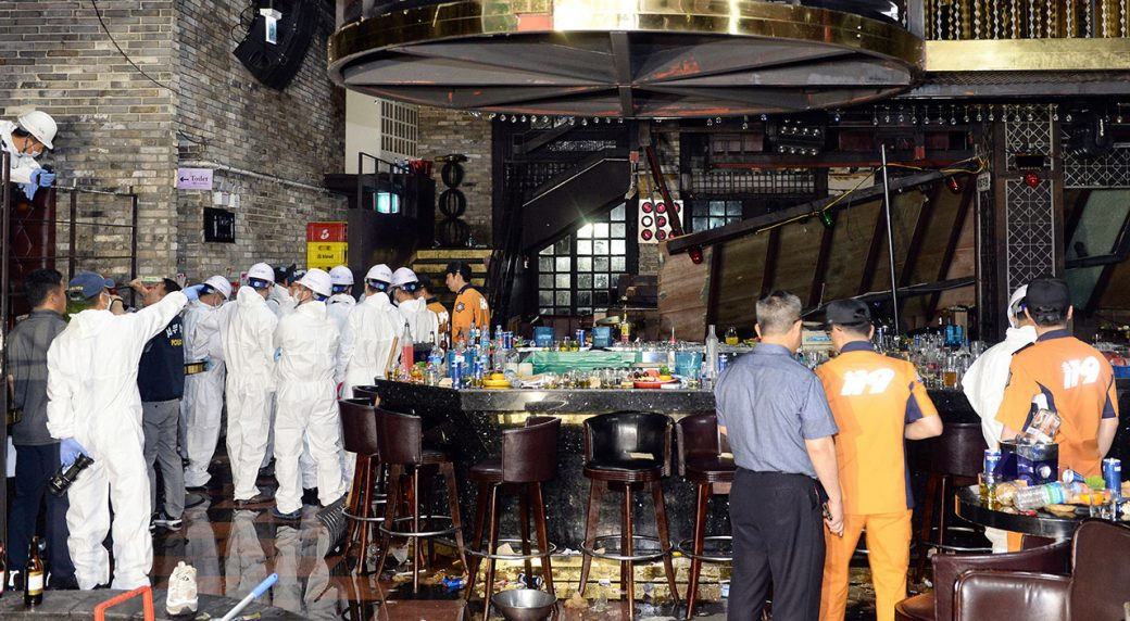 Two dead, eight swimming athletes hurt in S  Korea balcony