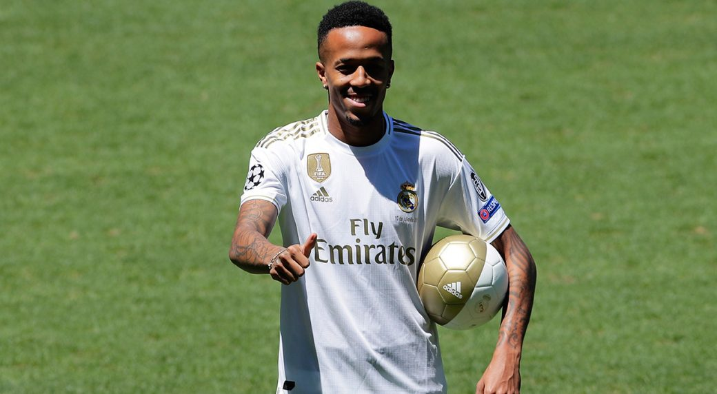 check out 8ae77 e447c Militao suffers dizzy spell after Real Madrid unveiling ...