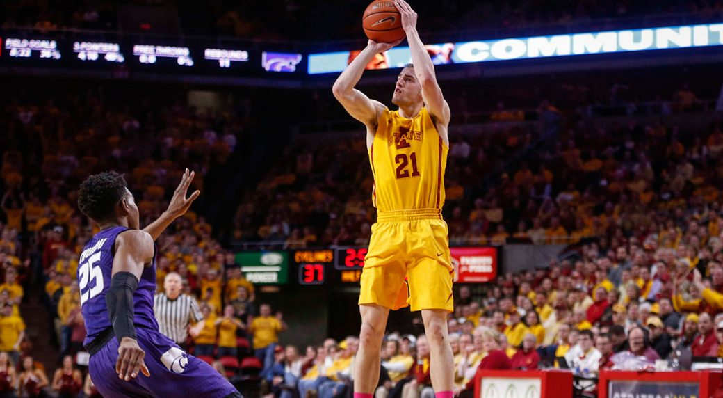 matt-thomas-shoots-three-point-shot-while-at-iowa-state