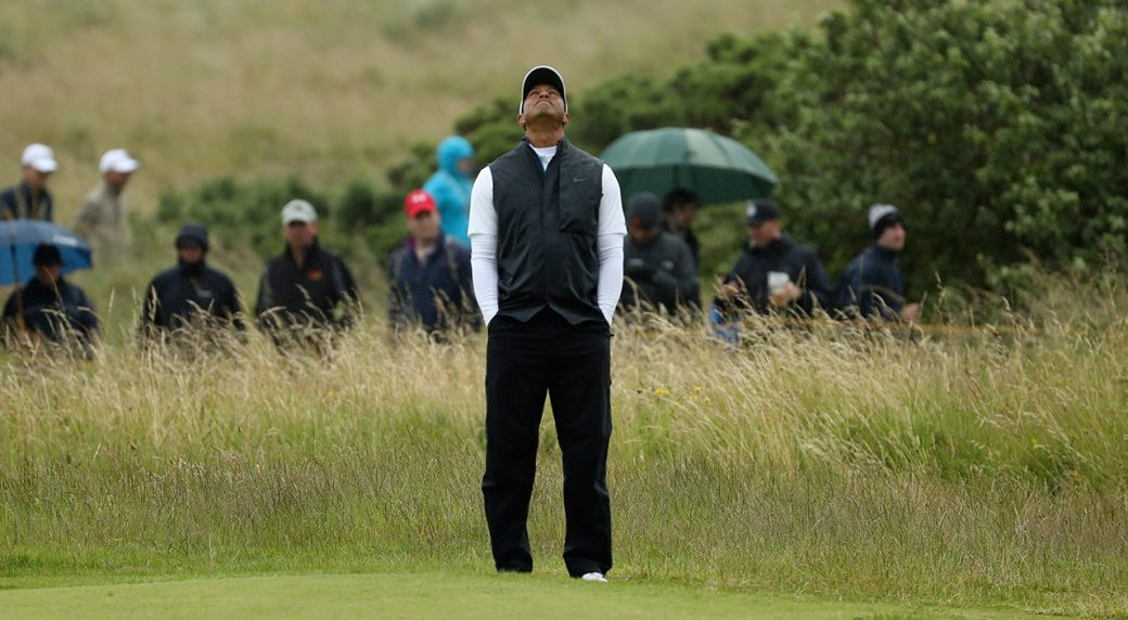 tiger woods  phil mickelson both miss cut at the open