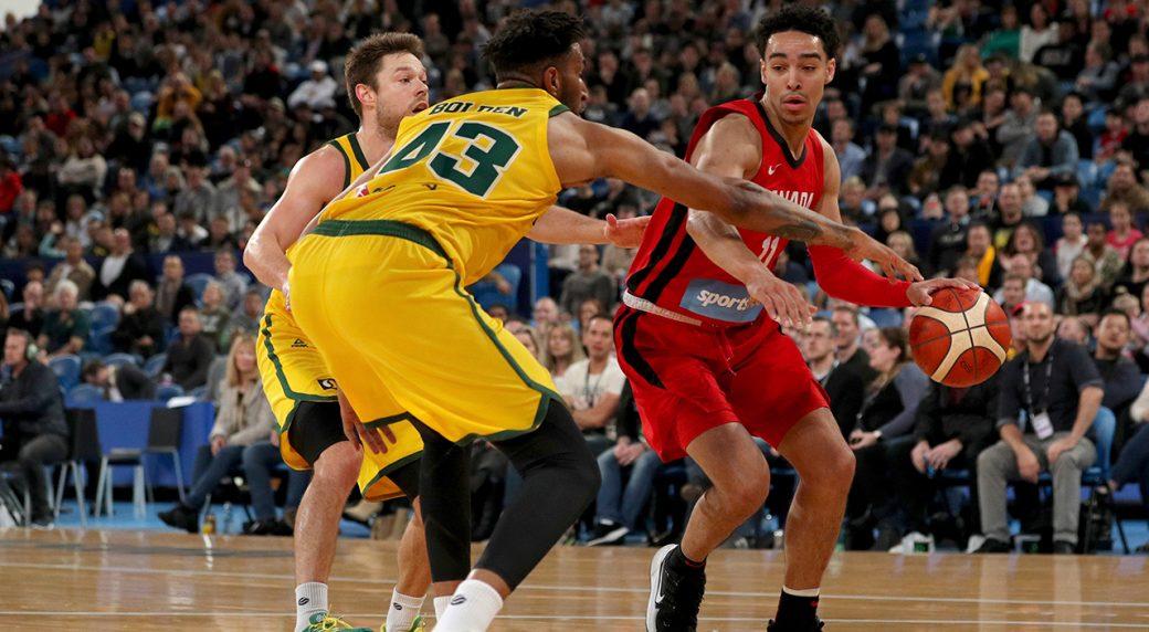 best authentic b3051 e88f2 Canada loses to Australia in second FIBA World Cup tuneup ...