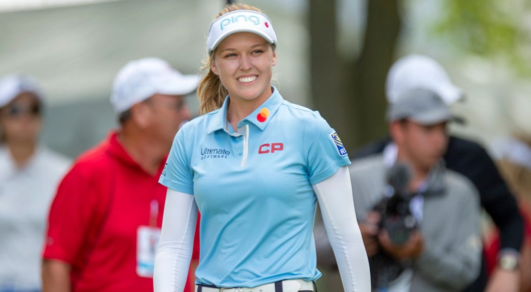 Brooke Henderson hits hole-in-1, leads LPGA Shanghai