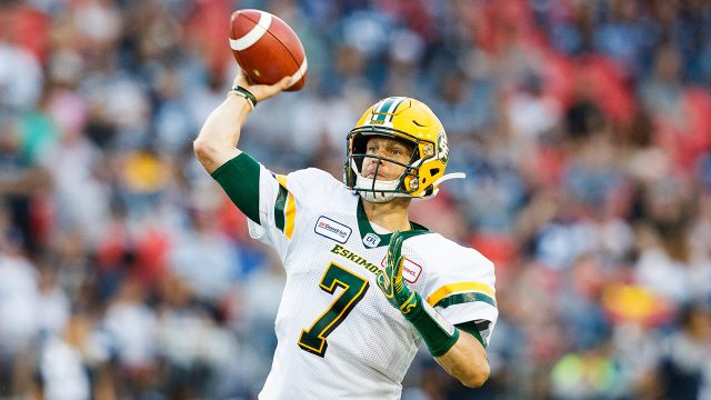 CFL-Eskimos-Harris-throws-against-Argonauts