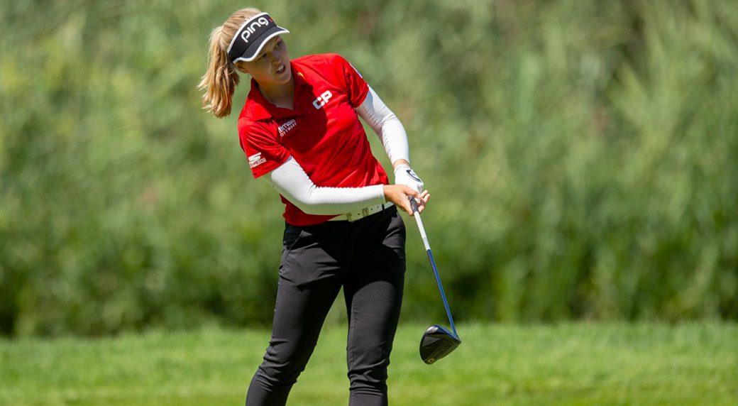 Golf-LPGA-Henderson-shoots-shot