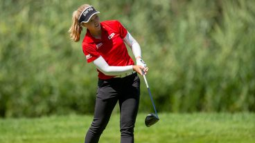 Golf-LPGA-Henderson-shoots-shot