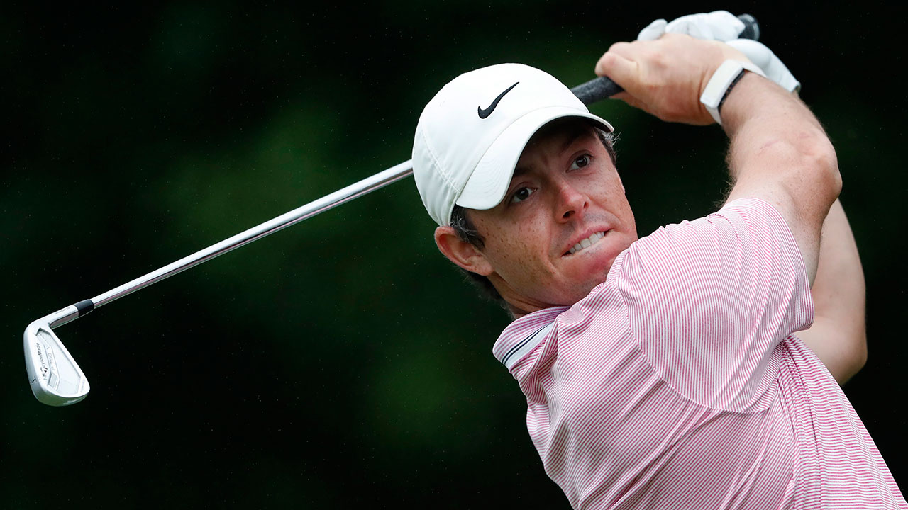 Golf-PGA-McIlroy-hits-shot