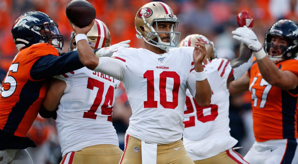 49ers' Jimmy Garoppolo Reacts To Dreadful Return From ACL Injury