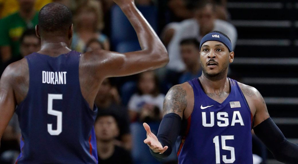 Kevin Durant, Kyrie Irving reportedly 'pushing' Nets to sign Carmelo Anthony
