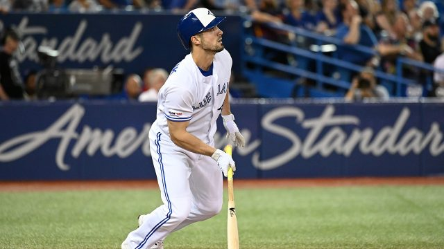 MLB-Blue-Jays-Grichuk-watches-home-run