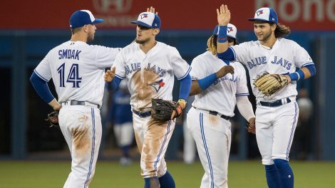 MLB-Blue-Jays-celebrate-win-over-Mariners