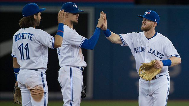 MLB-Blue-Jays-celebrate-win-over-Rangers