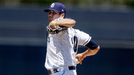 MLB-Padres-Quantrill-pitches-against-Rays