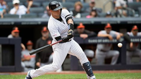 MLB-Yankees-Sanchez-hits-against-Orioles