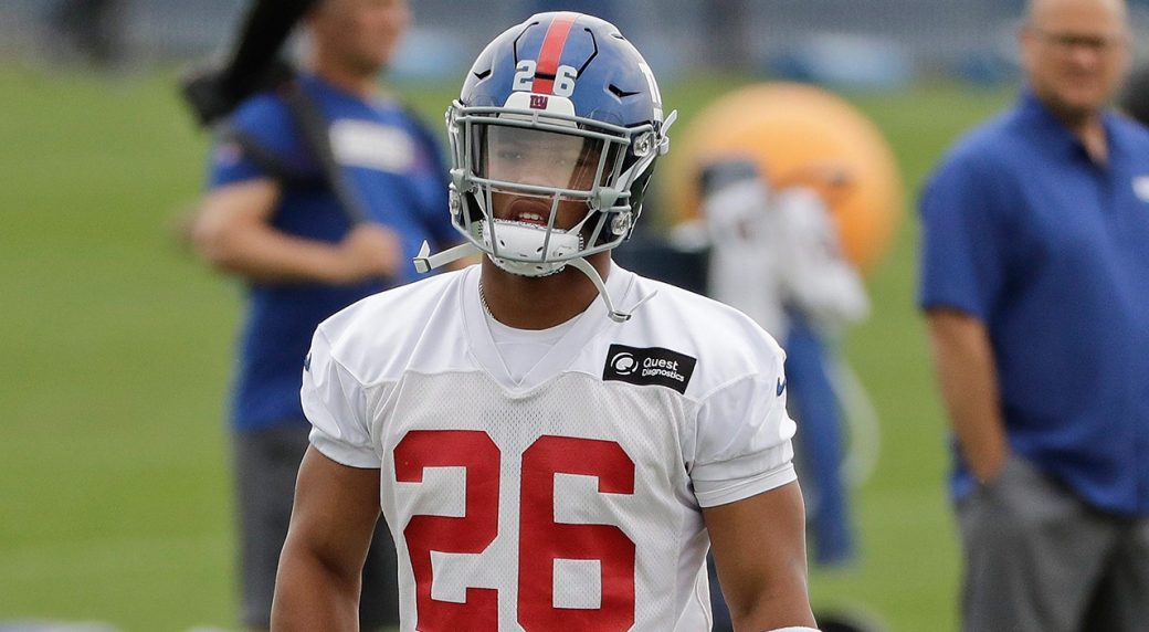NFL-Giants-Barkley-stands-during-practice