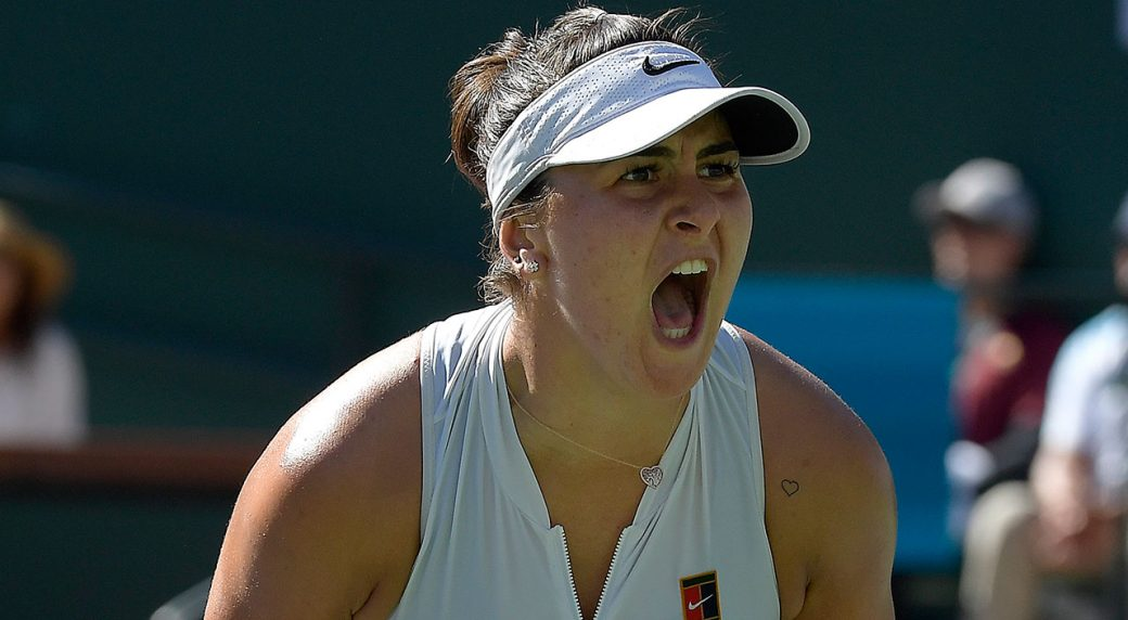 Tennis-WTA-andreescu-celebrates-after-point