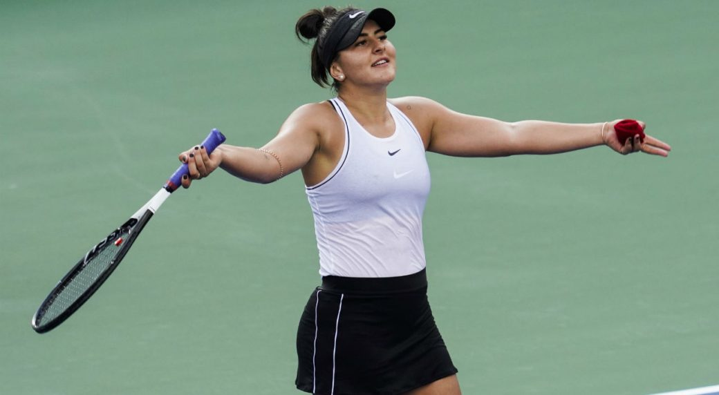 Andreescu survives Bertens surge, reaches first Rogers Cup quarterfinal
