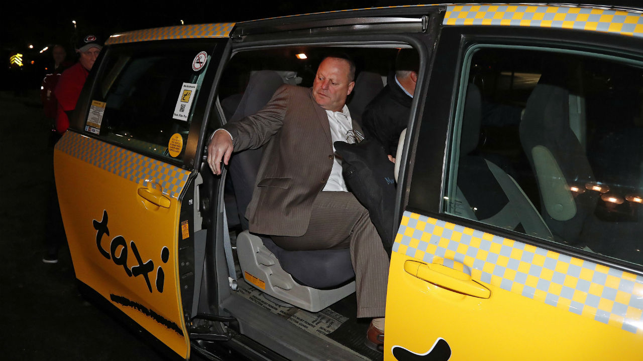 In-this-Nov.-27,-2016,-file-photo,-Gerard-Gallant,-former-Florida-Panthers-head-coach,-gets-into-a-cab-after-being-relieved-of-his-duties-following-an-NHL-hockey-game-against-the-Carolina-Hurricanes-in-Raleigh,-N.C.-The-Western-Conference-final-features-two-coaches-—-Gerard-Gallant-of-Vegas,-Paul-Maurice-of-Winnipeg-—-who-have-taken-long,-winding-roads-to-perhaps-the-best-teams-of-their-careers.