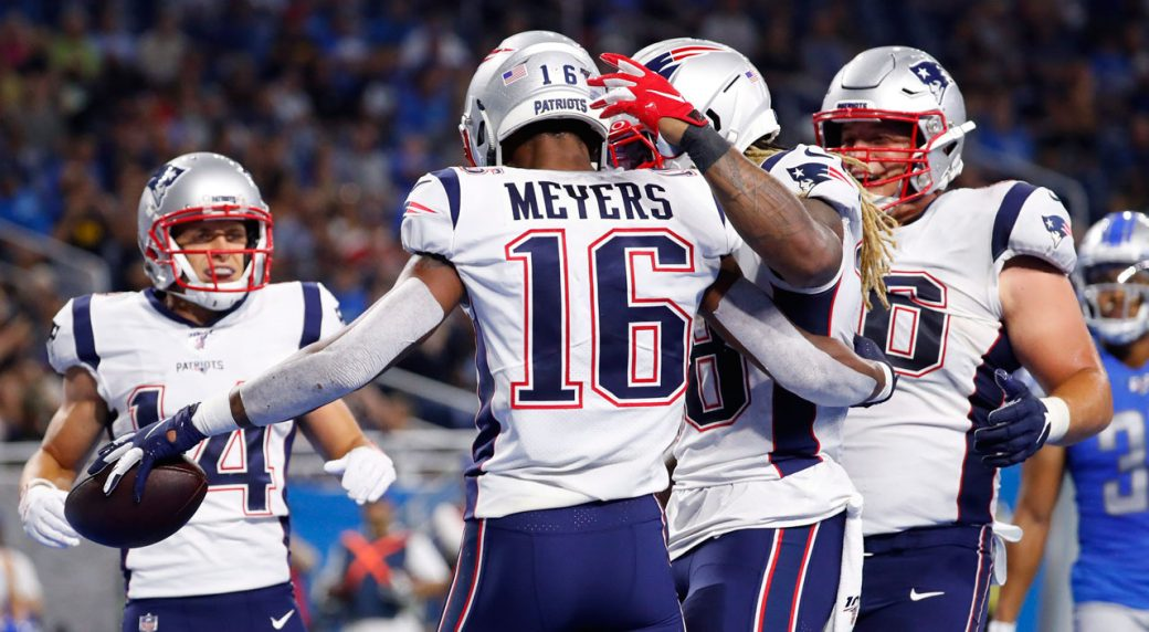 7a1c0d71 NFL Roundup: Meyers impressive as Patriots rout Lions in pre-season ...