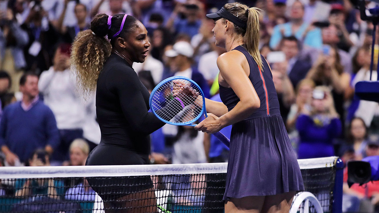 Serena Williams rolls over Sharapova in first round of U.S. Open - Sportsnet.ca