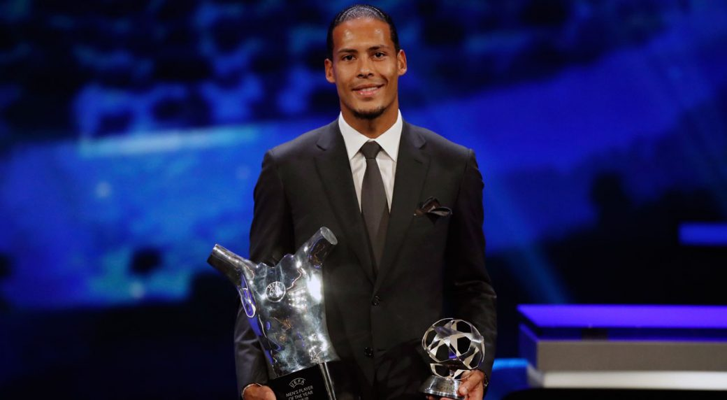 Image result for images of Van Dijk Wins UEFA Men's Player Of The Year Award